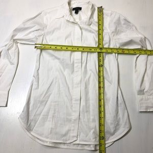 J. Crew Tops - J Crew Size 00P Solid White Favorite Button Shirt